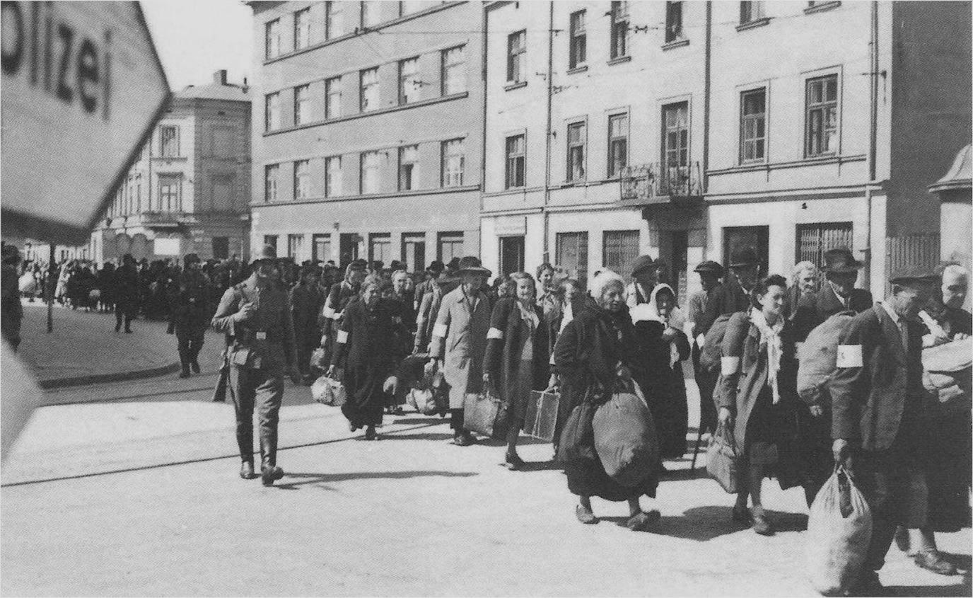 Deportaci├│n de los jud├şos del guetto, Cracovia, 1943 - foto By NN - United States Holocaust Memorial Museum